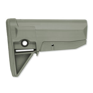 Bravo Company Manufacturing BCM Gunfighter Stock Fits Mil-Spec Receiver Extensions Polymer Foliage Green BCM-GFS-MOD-0-FG