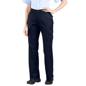 "Dickies Women's Flex Comfort Waist EMT Pants Poly/Cotton Twill Size 8 with 37"" Unhemmed Inseam Midnight Blue FP2377MD 8UU"