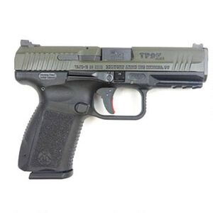 "Century Arms Canik TP9SF Elite 9mm Luger Semi Auto Pistol 15 Round 4.19"" Barrel Interchangeable Grips Black Polymer Frame OD Green Slide Finish"
