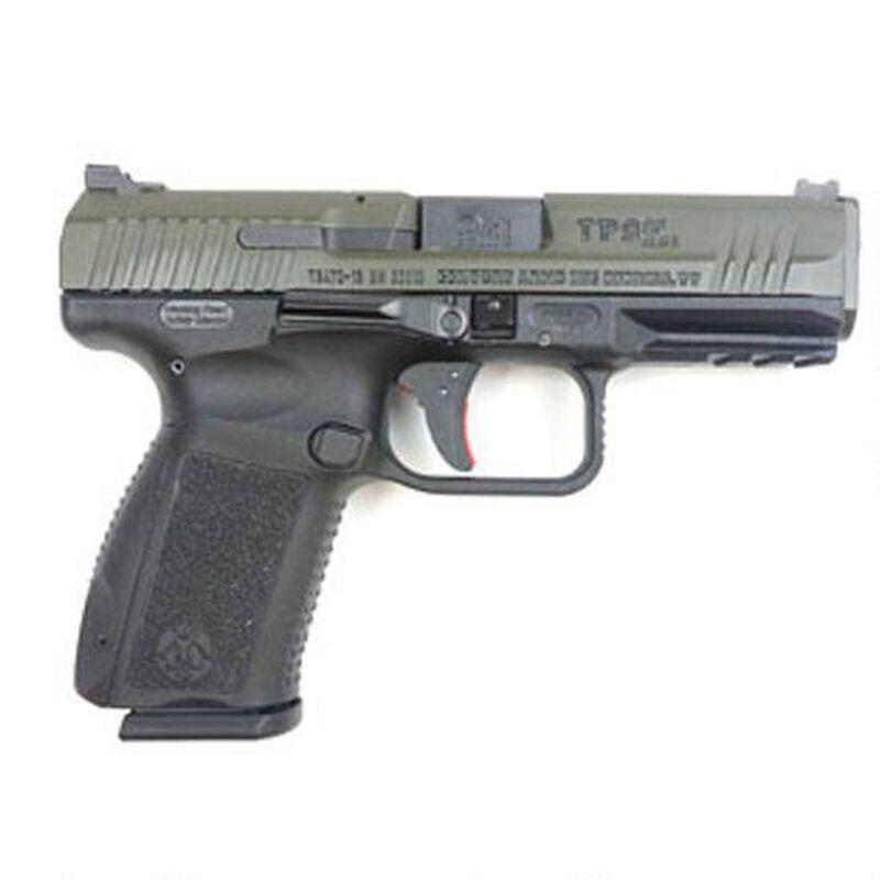 "Century Arms Canik TP9SF Elite 9mm Luger Semi Auto Pistol 15 Round 4.19"" Barrel Interchangeable Grips Black Polymer Frame OD Green Slide Finish"