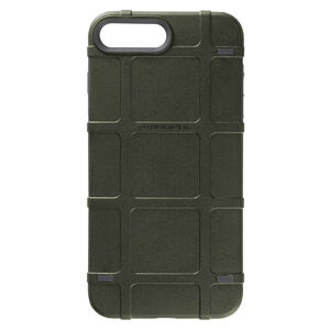Magpul Bump Case Apple iPhone 7+/8+ Rigid Thermoplastic Outer Shell with Shock Absorbing Inner Layer/PMAG Style Ribs Olive Drab Green