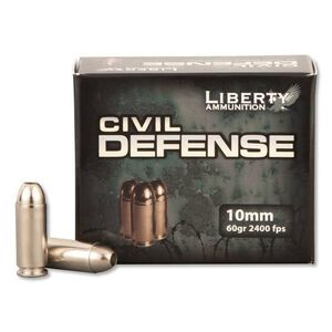 Liberty Civil Defense 10mm Auto 60gr CFHP 20 Rounds
