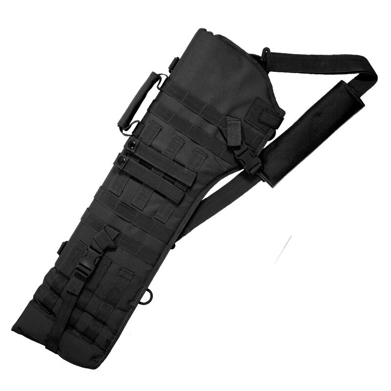 Red Rock Gear MOLLE Rifle Scabbard MOLLE Webbing Padded 600D Polyester Black