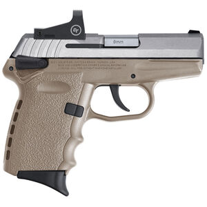 """SCCY Industries CPX-1 RD 9mm Luger Compact Semi-Auto Pistol 3.1"""" Barrel 10 Rounds CTS-1500 Red Dot Sight Polymer Grips Aluminum Frame Dark Earth Finish"""