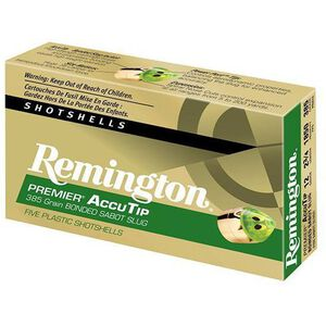 "Remington 12 Ga 2.75"" 385gr AccuTip Sabot Slug 5 Rounds"
