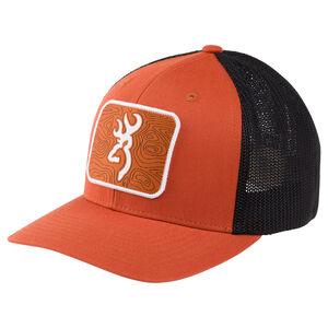Browning Chartered Cap Men's Size L/XL Flexfit Mesh Back Orange/Brown