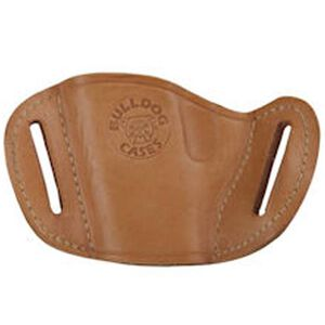 Bulldog Case Belt Slide Large Semi Auto Pistol Holster Ambidextrous Leather Tan MLT-L