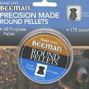 Beeman Precision Round Pellets .22 Caliber 175 Rounds 1245