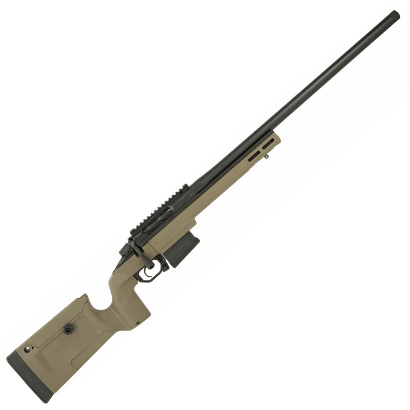 "Seekins Precision Havak Bravo .308 Winchester Bolt Action Rifle 24"" Stainless Steel Match Grade Barrel 5 Round Detachable Box Magazine Chassis Black/FDE"