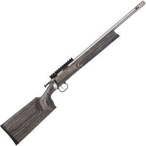"Keystone Crickett XBR .22 LR Youth Single Shot Bolt Action Rimfire Rifle 16"" Barrel 1 Round Muzzle Break Optics Rail Black Laminate Stock Stainless Finish"