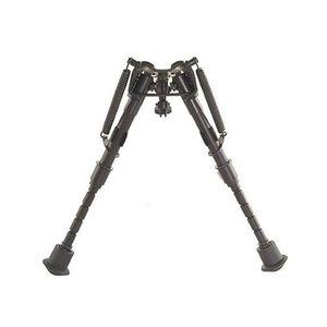 "Harris Ultra-light Bench Rest Bipod Notched Legs Sling Swivel Stud Mount 6"" to 9"" Telescoping/Folding Legs Aluminum Matte Black 1A2-BRM"