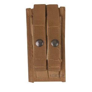 5ive Star Double 9mm Pistol Magazine Pouch Ballistic Weave Coyote