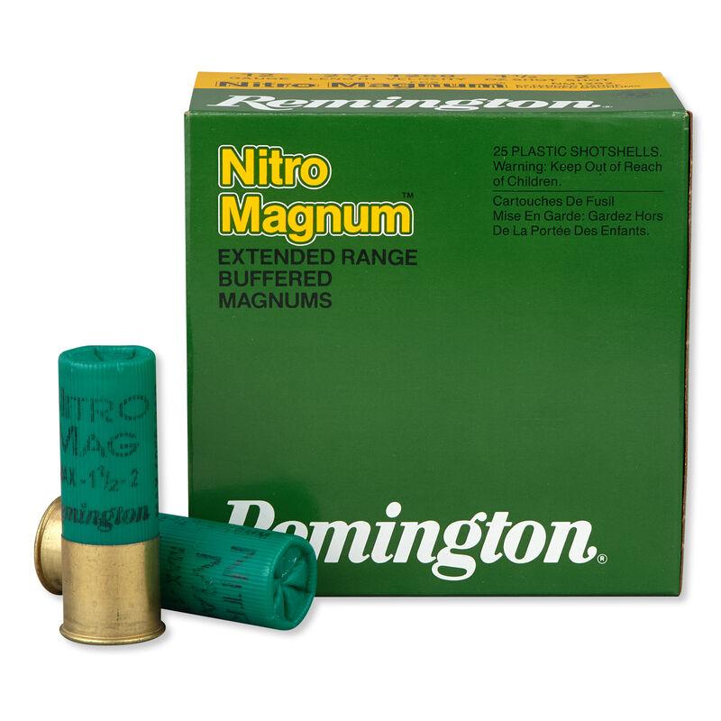 "Remington Nitro Magnum 12 Gauge Shotshell 250 Rounds 2 3/4"" #2 Lead 1 1/2 Ounce"