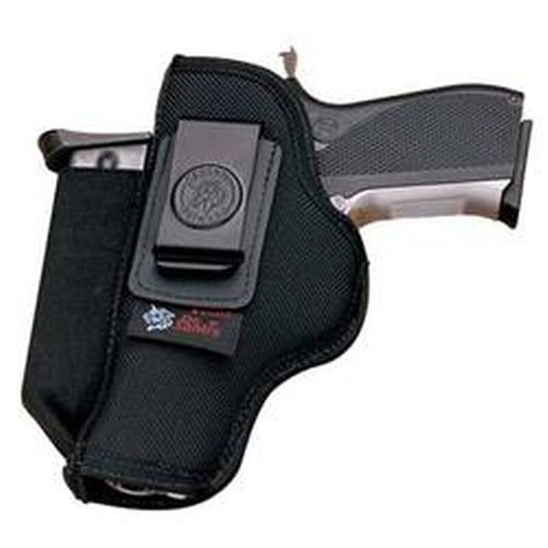 DeSantis Gunhide Kingston Car Seat Holster/Belt Holster Fullsize and Compact Frame Semi Automatic Pistols Ambidextrous Ballistic Nylon Black N92BJLAZ0