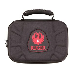 "Allen Company Ruger Blockade Molded Handgun Case 12"" Two Hook and Loop Tie Down Straps Micro Egg Crate Interior Black"