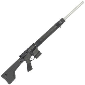 """Stag Arms STAG-15 Varminter AR-15 Semi Auto Rifle 5.56 NATO 24"""" SS Heavy Barrel 10 Rounds Hogue Free Float Handguard Magpul Fixed Rifle Stock Black"""