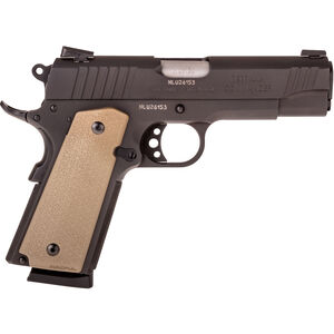 "Taurus 1911 Commander Single Action .45 ACP Semi Automatic Pistol 4.2"" Barrel 8 Rounds Novak Sights MagPul FDE Grips Matte Black Finish"