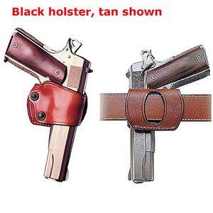Galco Yaqui Slide Belt Holster Right Hand Leather Black YAQ202B