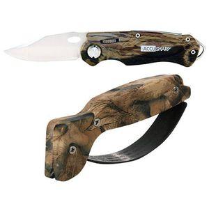 AccuSharp Knife and Tool Sharpener Combo Carbide Knife Sharpener Stainless Steel Pocket Knife Camo Finish 042C