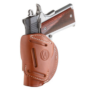 "1791 Gunleather 4 Way WH-1 Multi-Fit IWB/OWB Concealment Holster for 3""/4"" 1911 Models Right Hand Draw Leather Classic Brown"
