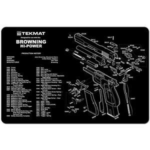 "TekMat ""Browning Hi-Power"" Armorers Bench Mat 11""x17""x1/8"" Neoprene 17-BROWNHP"