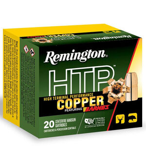 Remington HTP Copper .454 Casull Ammunition 20 Rounds 250 Grain Barnes XPB All Copper Bullet 1700 fps