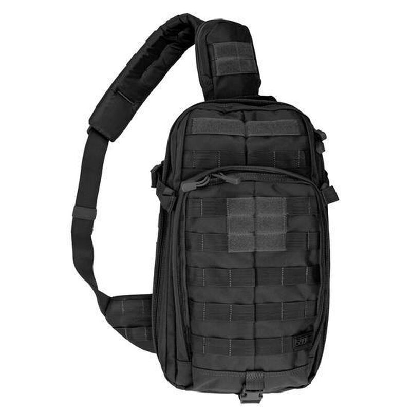 "5.11 Tactical RUSH MOAB 10 Sling Pack Ambidextrous 18L Main Compartment 18.25""x9""x5.25"" 1050D Nylon Black"