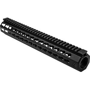 "NcSTAR AR15 15"" Free Float Key-Mod Handguard with Barrel Nut Aluminum Black"