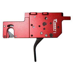 Timney Trigger for Ruger Precision Rifle 2-Stage Trigger Straight Flat Trigger Shoe User Adjustable Aluminum Red Housing Black Trigger Shoe