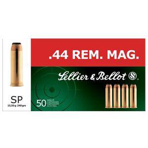 Sellier & Bellot .44 Magnum Ammunition 50 Rounds SP 240 Grains SB44A