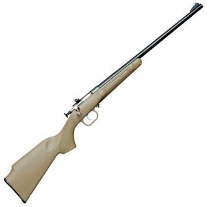 "Keystone Arms Crickett Gen 2 Single Shot Bolt Action Rifle .22 LR 16.125"" Blued Barrel Iron Sights Synthetic Stock Tan Finish KSA2253"