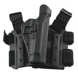 BLACKHAWK! SERPA Level 2 Tactical Drop Leg Holster SIG P226/229/220 Right Hand Polymer Black 430506BK-R