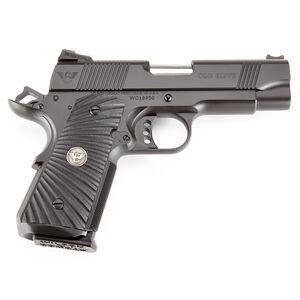 "Wilson Combat CQB Elite Compact 1911 Semi Automatic Handgun .45 ACP 4"" Barrel 7 Rounds Starburst G10 Grips Armor Tuff Black Finish"
