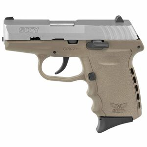 """SCCY CPX-2 9mm 3.1"""" Barrel 10 Rounds FDE Stainless Steel"""