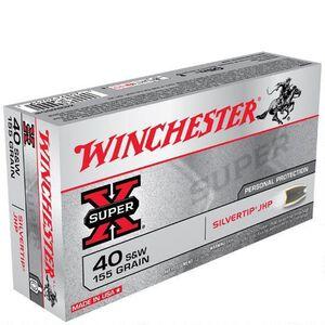 Winchester Super X .40 S&W Ammunition 50 Rounds, Silvertip HP, 155 Grain