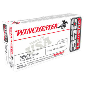 Winchester 350 LEGEND Ammunition 20 Rounds FMJ USA 145 Grains