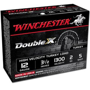 "Winchester Double X 12 Ga 3.5"" #5 Plated 2oz 10 Rounds"