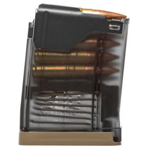 Lancer Advanced Warfighter Magazine L5AWM AR-15 .300 AAC Blackout 10 Rounds FDE Floorplates Translucent Smoke Finish