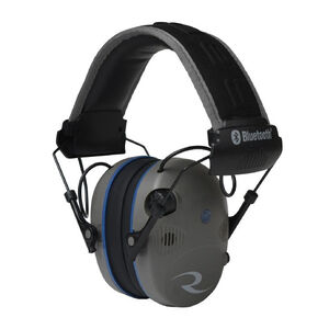 Radians R-Series R-3700 Quad Mic Electronic Earmuff -24dB Noise Reduction Rating Bluetooth Quad Microphones LED Premium Headband Compact Folding Pewter/Black Finish
