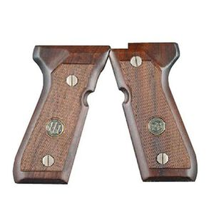 Beretta 92/M9 Walnut Grips Checkered with Medallion Brown JG92FSW