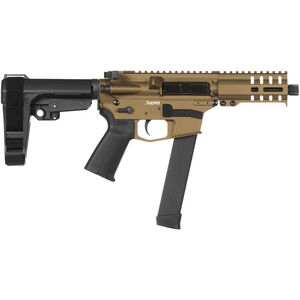 "CMMG Banshee 300 MkGs 9mm Luger AR-15 Semi Auto Pistol 5"" Barrel 33 Rounds Uses GLOCK Style Magazines RML4 M-LOK Handguard CMMG Micro/CQB RipBrace Burnt Bronze Finish"