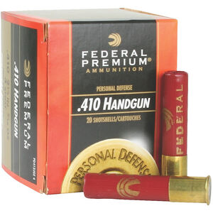 "Federal Personal Defense .410 Bore Ammunition 200 Rounds 2.5"" #4 Shot 950 Feet Per Second"