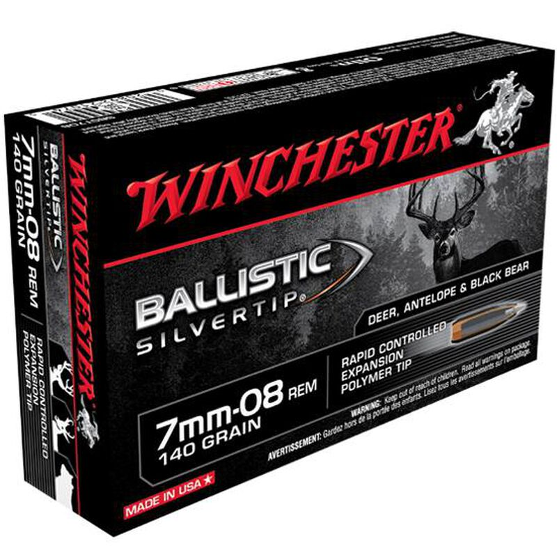 Winchester Silvertip 7mm-08 Remington Ammunition 20 Rounds BST 140 Grains SBST708