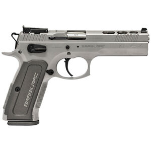 "SAR USA Sarsilmaz K12 Sport X 9mm Luger Semi Auto Pistol 4.7"" Barrel 17 Rounds Adjustable Sights Alloy Steel Frame Silver"