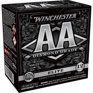 "Winchester AA Diamond Grade 12 Gauge Ammunition 25 Rounds 2 3/4"" #7.5 1 Ounce AADGL12507"