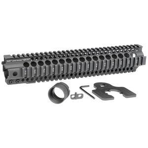 "Midwest Industries AR-15 Combat Rail T-Series 12.625"" One Piece Free Float Hand Guard 6061 Aluminum Hard Coat Anodized Matte Black Finish"