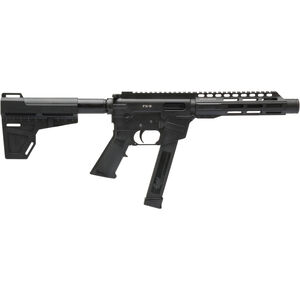 "Freedom Ordnance FX-9 Pistol 9mm Luger AR Style Semi Auto Pistol 8.25"" Barrel 33 Rounds Uses GLOCK Style Mags 7.375"" Freefloat M-LOK Handguard KAK Pistol Brace Black"