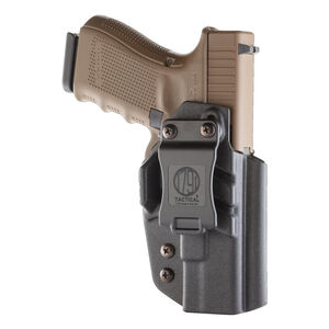 1791 Gunleather Tactical Kydex Multi-Fit IWB Holster for GLOCK Semi Auto Pistols Right Hand Draw Kydex Black