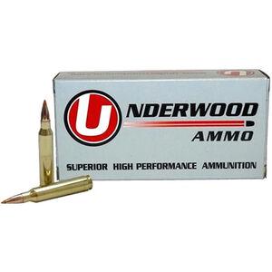 Underwood Ammo 22-250 Rem Ammunition 20 Round Box 60 Grain Nosler Ballistic Tip Spitzer Projectile 3600 fps