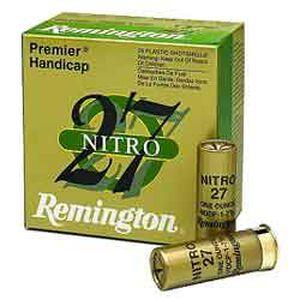 """Remington Nitro 27 12 Ga 2.75"""" #8 Lead 1.125oz 250 rds"""